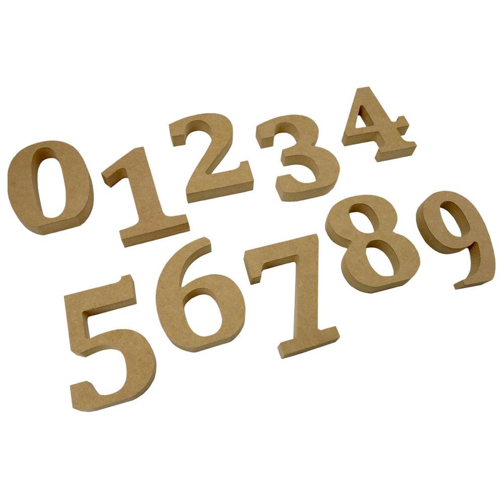 Números em MDF para Decoração 12cm de Altura e 1,8cm de Espessura em Madeira  MDF - PalacioDaArte 4068943d1a