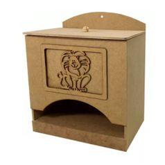 Porta-Fraldas-3D-em-MDF-Safari-Bacana-245x16x21cm---Palacio-da-Arte