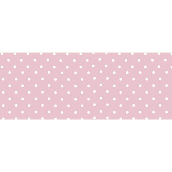 Barra-Adesiva-Decoupage-Litocart-LB-720-44x4cm-Poa-Branco-Fundo-Rosa