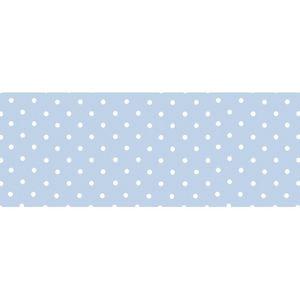 Barra-Adesiva-Decoupage-Litocart-LB-721-44x4cm-Poa-Branco-Fundo-Azul