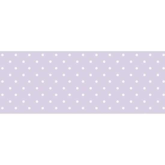 Barra-Adesiva-Decoupage-Litocart-LB-723-44x4cm-Poa-Branco-Fundo-Lilas