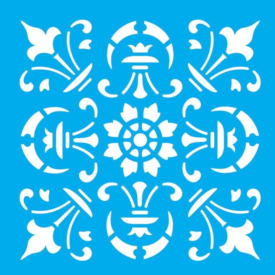 Stencil-Litocart-14x14cm-para-Pintura-Simples-LSP-057-Azulejo-Lanca