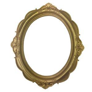Moldura-Oval-Provencal-Arabesco-Flor-Dourado-31x26x15cm---Resina