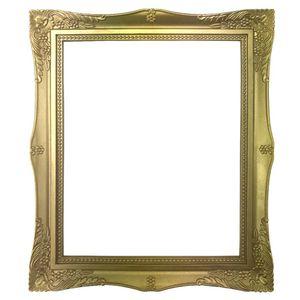 Moldura-Retangular-Cantoneira-Flores-Dourado-29x24x18cm---Resina
