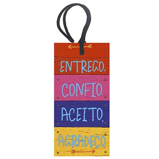 Placa-TAG-MDF-Decorativa-Litoarte-DHT2-010-143x7cm-Entrego-Confio-Aceito-Agradeco