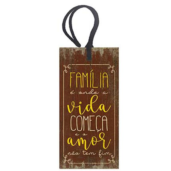 Placa-TAG-MDF-Decorativa-Litoarte-DHT2-024-143x7cm-Familia-e-Onde-a-Vida-Comeca