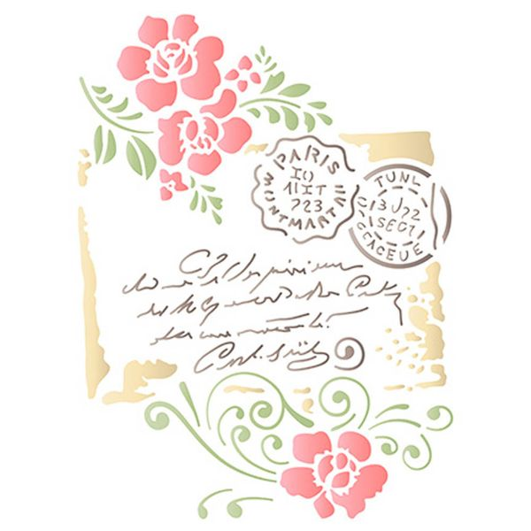 Stencil-Litoarte-21x172cm-Pintura-Simples-STM-592-Carta-Selo-Flores