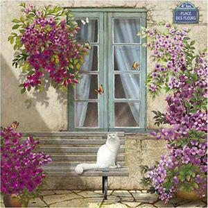 Papel-Decoupage-Arte-Francesa-Litoarte-AFQ-401-21x21cm-Fachada-Casorio-com-Gato