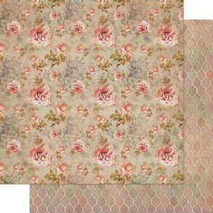 Papel-Scrapbook-Litoarte-SD-720-Dupla-Face-305X305cm-Vintage-Estampa-Rosas-Salmao