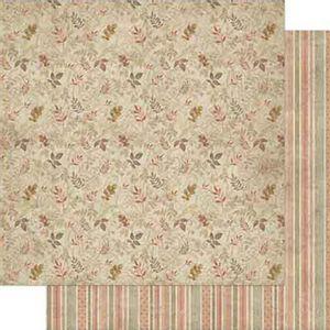 Papel-Scrapbook-Litoarte-SD-721-Dupla-Face-305X305cm-Vintage-Estampa-Organica-de-Folha