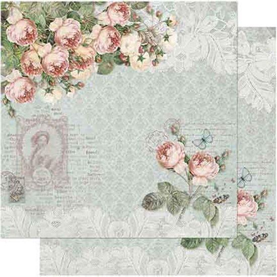 Papel-Scrapbook-Litoarte-SD-725-Dupla-Face-305X305cm-Shabby-Chic-de-Rosas