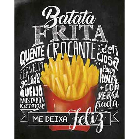 Placa-Decorativa-Litoarte-DHPM-315-24x19cm-Batata-Frita