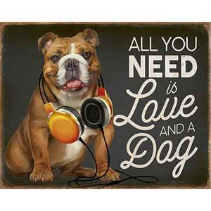 Placa-Decorativa-Litoarte-DHPM-317-24x19cm-All-You-Need-is-Love-and-a-Dog