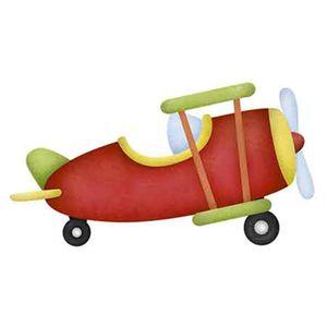 Aplique-Decoupage-Litoarte-APM8-856-em-Papel-e-MDF-8cm-Aviao-Vermelho-e-Verde