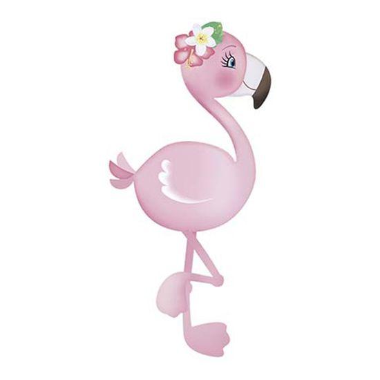 Aplique-Decoupage-Litoarte-APM8-866-em-Papel-e-MDF-8cm-Flamingo-com-Flores