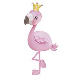 Aplique-Decoupage-Litoarte-APM8-869-em-Papel-e-MDF-8cm-Flamingo-com-Coroa