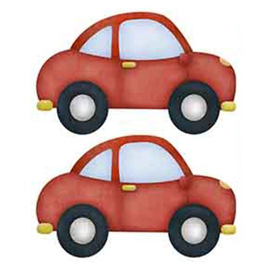 Aplique-Decoupage-Litoarte-APM4-292-em-Papel-e-MDF-4cm-Carros-Vermelhos