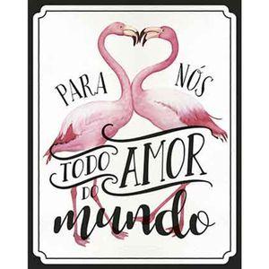 Placa-Decorativa-Litoarte-DHPM-324-24x19cm-Flamingo-Frase-Para-Nos-Todo-Amor-do-Mundo