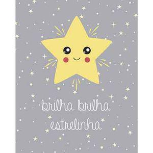 Placa-Decorativa-Litoarte-DHPM-335-24x19cm-Brilha-Brilha-Estrelinha