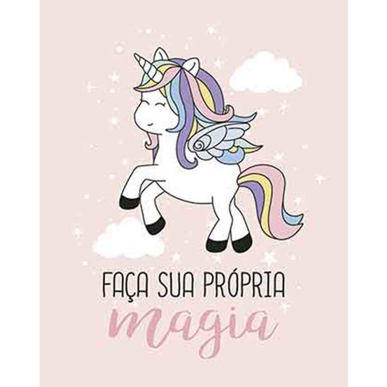 Placa-Decorativa-Litoarte-DHPM-337-24x19cm-Unicornio-Faca-sua-Propria-Magia