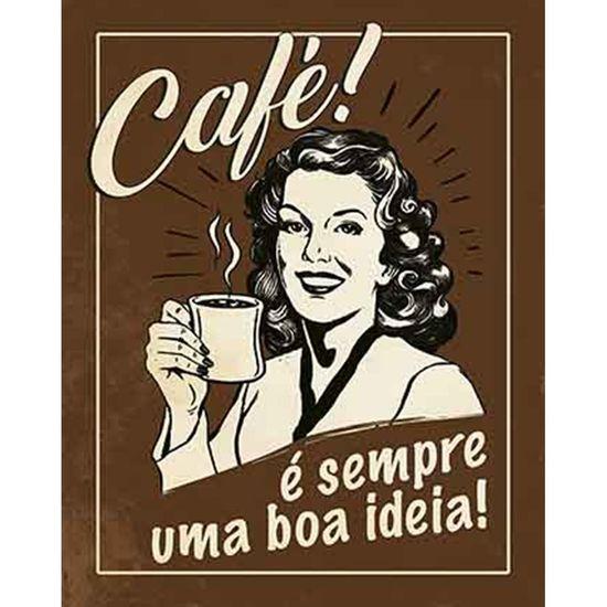 Placa-Decorativa-Litoarte-DHPM-346-24x19cm-Cafe-e-Sempre-um-Boa-Ideia