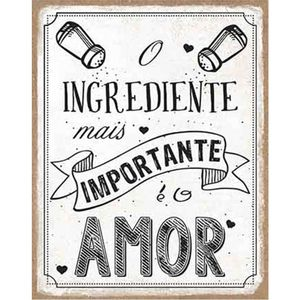 Placa-Decorativa-Litoarte-DHPM-355-24x19cm-O-Ingrediente-Mais-Importante