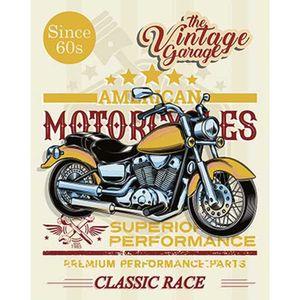 Placa-Decorativa-Litoarte-DHPM-371-24x19cm-Moto-Amarela