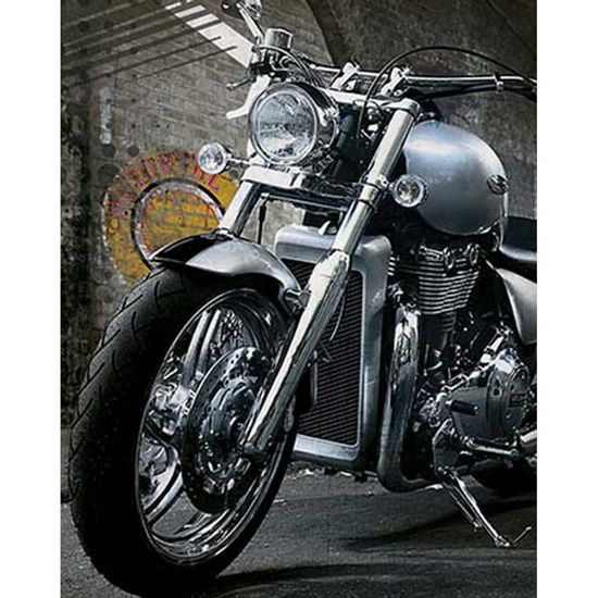 Placa-Decorativa-Litoarte-DHPM-375-24x19cm-Moto-Cinza