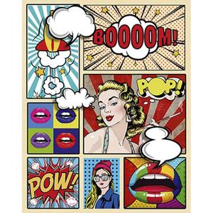 Placa-Decorativa-Litoarte-DHPM-386-24x19cm-Pop-Art-Booooom