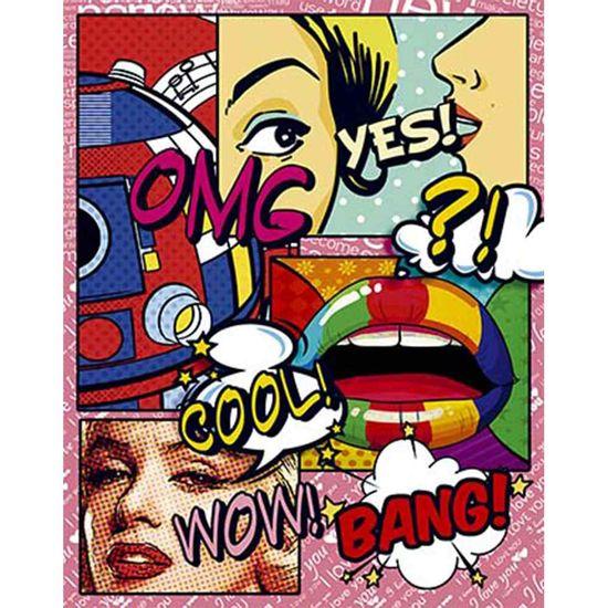 Placa-Decorativa-Litoarte-DHPM-387-24x19cm-Pop-Art-Omg-Yes