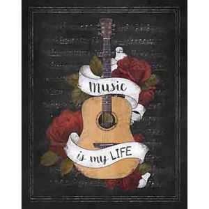 Placa-Decorativa-Litoarte-DHPM-222-24x19cm-Violao-Music-Is-My-Life