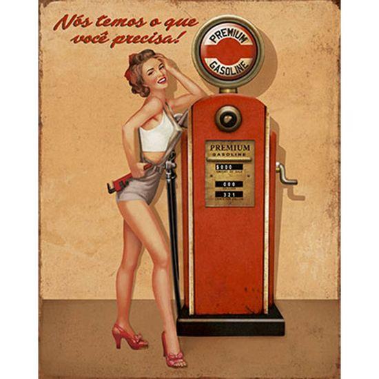 Placa-Decorativa-Litoarte-DHPM-227-24x19cm-Pin-Up-Bomba-de-Gasolina-Premium