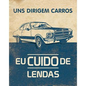 Placa-Decorativa-Litoarte-DHPM-235-24x19cm-Uns-Dirigem-Carros