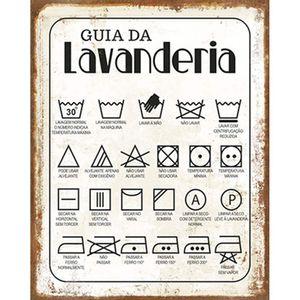 Placa-Decorativa-Litoarte-DHPM-245-24x19cm-Guia-da-Lavanderia