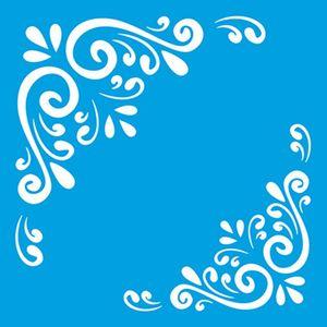 Stencil-Litoarte-10x10cm-Pintura-Simples-ST-X310-Cantoneiras-Arabescos
