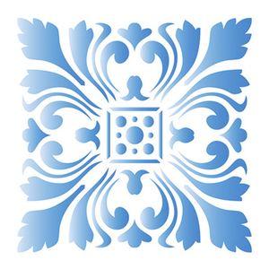Stencil-Litoarte-10x10cm-Pintura-Simples-ST-X314-Azulejo-Imperial