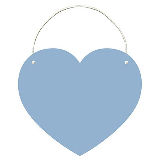 Placa-Decorativa-Lousa-em-MDF-Litoarte-DHLO-007-34x295cm-Coracao-Azul