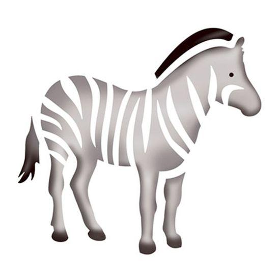 Stencil-Litoarte-10x10cm-Pintura-Simples-ST-X017-Zebra