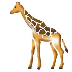 Stencil-Litoarte-10x10cm-Pintura-Simples-ST-X019-Girafa