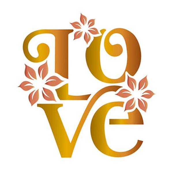 Stencil-Litoarte-10x10cm-Pintura-Simples-ST-X183-Love-com-Flores
