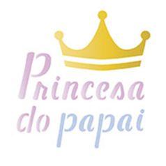Stencil-Litoarte-10x10cm-Pintura-Simples-ST-X226-Princesa-do-Papai-para-Canecas