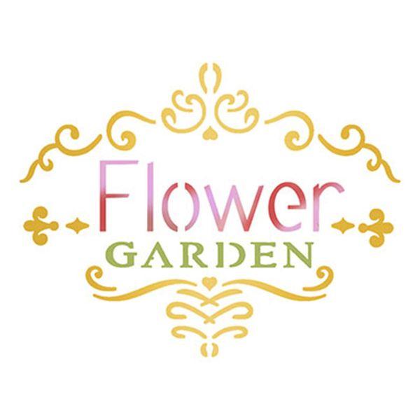 Stencil-Litoarte-10x10cm-Pintura-Simples-ST-X322-Selo-Flower-Garden