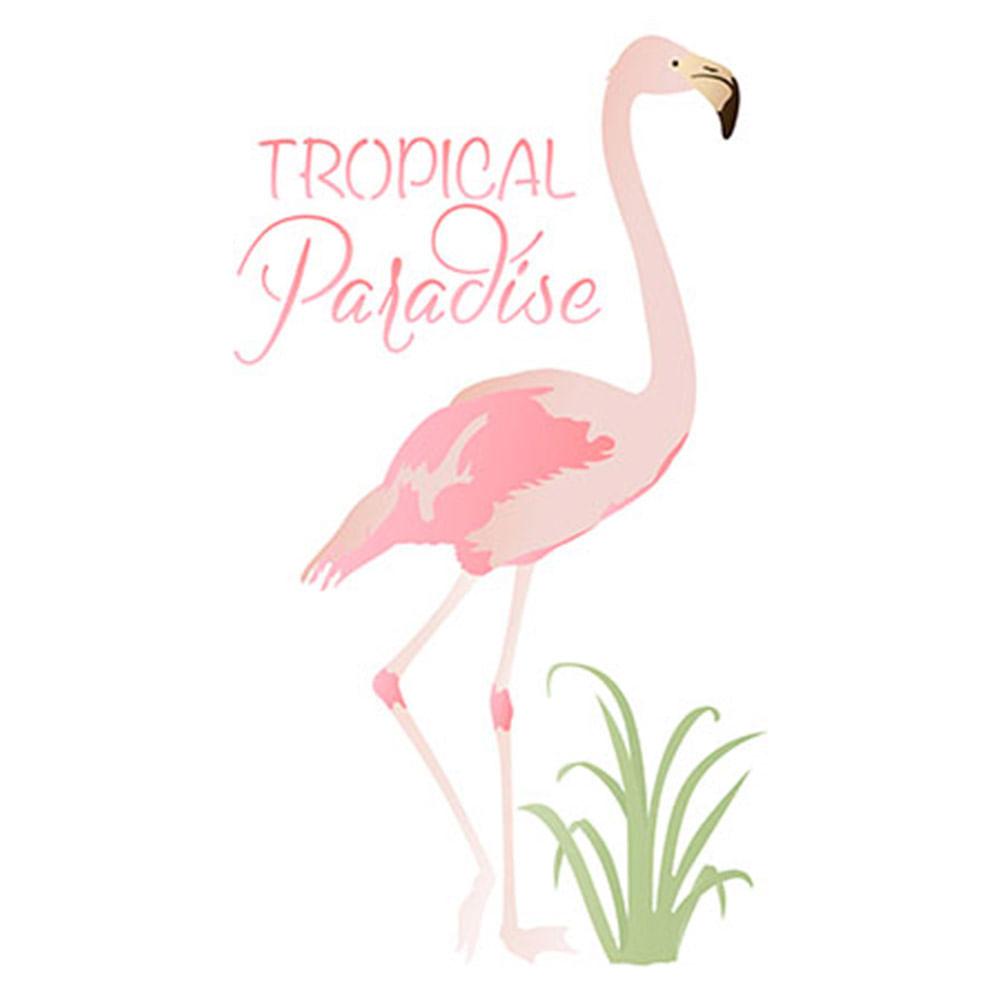 258ac2f56475b Stencil Litoarte 34,4x21cm Pintura Sobreposição ST-324 Flamingo -  PalacioDaArte