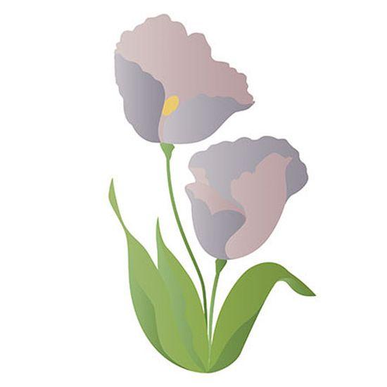 Stencil-Litoarte-344x21cm-Pintura-Sobreposicao-ST-134-Flor-Tulipa