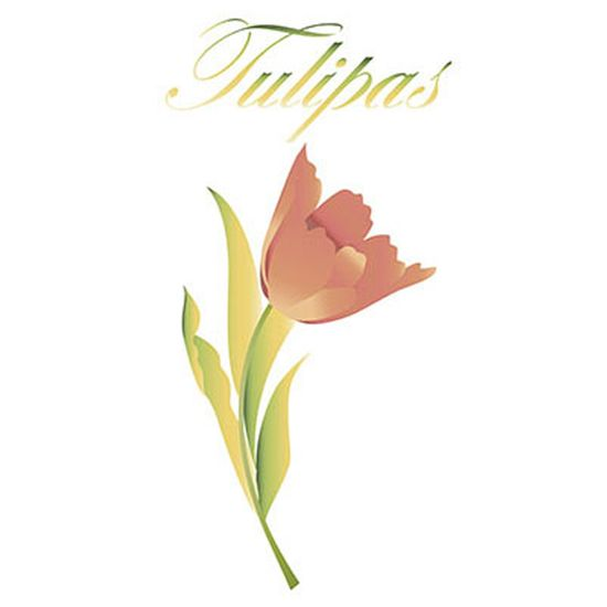 Stencil-Litoarte-344x21cm-Pintura-Sobreposicao-ST-115-Flor-Tulipa