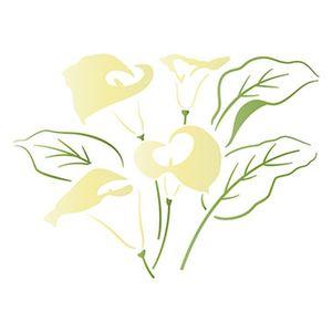Stencil-Litoarte-344x21cm-Pintura-Simples-ST-102-Flor-Copo-de-leite
