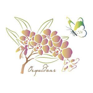 Stencil-Litoarte-344x21cm-Pintura-Simples-ST-098-Flores-Orquideas