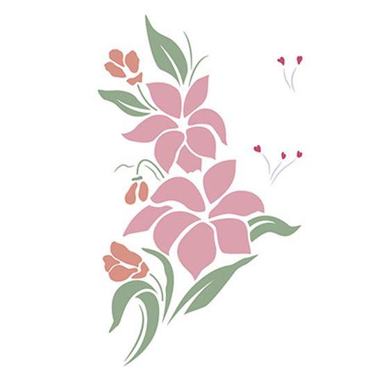 Stencil-Litoarte-344x21cm-Pintura-Simples-ST-003-Flores