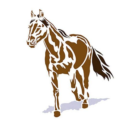 Stencil-Litoarte-344x21cm-Pintura-Simples-ST-048-Cavalo
