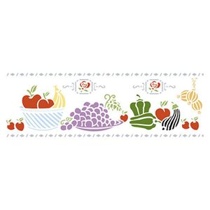 Stencil-Litoarte-42x17cm-Pintura-Simples-STG-009-Frutas